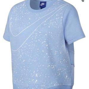 Nike Crewneck Wrap Back Short Sleeve Sweatshirt
